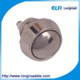 Nuevo tipo interruptor de pulsador terminal redondo del metal del Pin