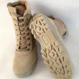 軍隊はジッパーのブート、砂漠の軍隊の戦闘用ブーツをたたく