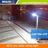 30W éclairage routier de l'énergie solaire DEL tout dans un réverbère de DEL