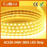 Alta tira 2835 del alto brillo LED del CRI AC220V-240V