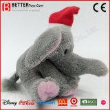 Elefante do brinquedo dos animais enchidos de ano novo do Natal