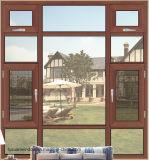الصين خشبيّة حبة إنجاز ألومنيوم شباك نافذة