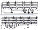 3 محور العجلة نوع فحم [هول] نقل مقطورة