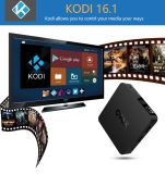 Caixa esperta Kodi16.0 da tevê de Andriod 5.1 do núcleo do quadrilátero de Qatar Google Kodi16.0 Media Player C96X S905X 1g 8g