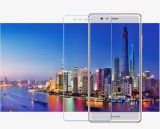 Huawei P9のための十分にカバーされた緩和されたガラススクリーンの保護装置を曲げる3D熱