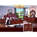 Кровать спальни для классицистической домашней мебели и мебели гостиницы (W812)