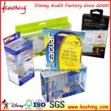 Casella cosmetica trasparente di imballaggio di plastica di Pet/PVC/APET con il gancio