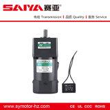 motor de inducción de la CA la monofásico 60W con el reductor del engranaje y el regulador de la velocidad