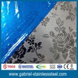 Qualité PVD enduisant la feuille embrévée décorative 2.5mm de l'acier inoxydable 201