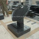 G654 회색 화강암 방석 심혼 디자인 묘석