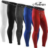 Pantaloni di yoga delle ghette di usura di forma fisica di Short di compressione degli uomini di Dk6026 Neleus