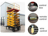 Levage droit de ciseaux de plate-forme antidérapante avec le délai de livraison rapide