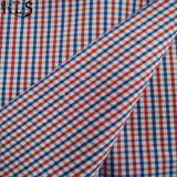 셔츠 복장 Rls60-12po를 위한 면 줄무늬 포플린에 의하여 길쌈되는 털실에 의하여 염색되는 직물
