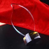 Arte creativo del trofeo del vidrio cristalino de la dimensión de una variable de la llama