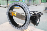 U Section Flanged Butterfly Valve met Gearbox (CBF02-TU03)