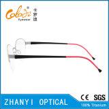 Рамка облегченных Semi-Rimless Titanium стекел Eyeglass Eyewear оптически (8117)