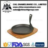 アマゾン卸し売り無煙エナメルの鋳鉄のフライパンの小鍋