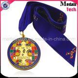 Медали перекрестной страны металла античного серебряного Sandblast изготовленный на заказ