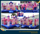 Opblaasbare Koningin Cartoon Bouncy Castle Inflatable Speelplaats