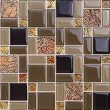 Het donkere Zwarte Mozaïek van het Glas voor de Muur van TV van de Woonkamer (M855005)