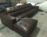 居間デザイン革Ecksofasの簡単なソファ
