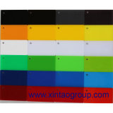 Talla y color rojos blancos negros de la hoja 5m m del acrílico/del plexiglás/del plexiglás del molde