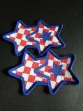 Overlocking Stern-Form gesponnenes Abzeichen