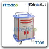 Heiß! ! Medizinische ABS Emergency Systemabsturz-Karre für Krankenhauspatient-Behandlung-Laufkatze