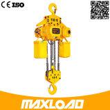 elevación de cadena eléctrica 10t con el gancho de leva