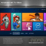 Amlogic processeur 64 bits Quad Core 2 Go RAM Internet TV Box basé sur Android 6.0