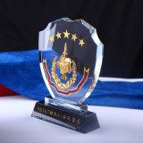 Оптовый корабль трофея кристаллический стекла для сувенира