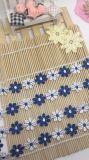 Cordón de nylon de la suposición del recorte del bordado del poliester del cordón de la venta al por mayor los 2cm de la fábrica de la anchura de la margarita bicolor común del bordado para el accesorio de la ropa y materias textiles y cortina caseras