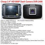 """Preiswerteste HD1080p Auto-Digital-Schreiber-Kamera mit 2.4 """" HD TFT Bildschirmanzeige; HDMI heraus; Handels-heraus; Nachtsicht, 4G Objektiv, 120 Grad-Ansicht-Winkel, Auto DVR-2406"""