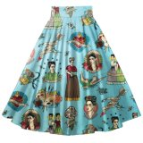 Vintage Retro Style Frida Printed Pleased Ladies Unbrella All-Match Jupes