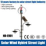 Lumière hybride de nuit de région de réverbère de vent solaire pour l'usage extérieur