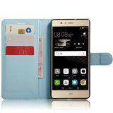 Caisse de livre en cuir de la meilleure qualité de chiquenaude de pochette pour Huawei P9 Lite