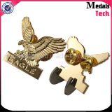 Distintivi su ordinazione dei militari di qualità di figura dell'aquila placcati oro