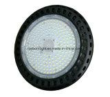lumière imperméable à l'eau d'entrepôt de la lumière élevée DEL Highbay de compartiment d'UFO 200W