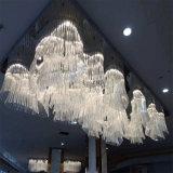 Канделябр проекта гостиницы декоративный большой кристаллический для конвенции Hall