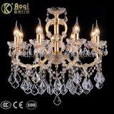 Luzes de cristal douradas do candelabro do ferro o mais novo