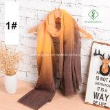 Madame chaude de mode de la vente 2017 Cotton Scarf avec l'usine de couleur de gradient