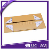 Da dobradura de papel branca da textura da oferta da fábrica caixa de presente rígida com indicador