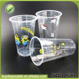 Copos plásticos feitos sob encomenda por atacado do gelado com tampas