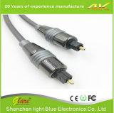 Câble optique de Toslink de fiche en métal de qualité