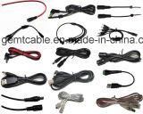 Câble électrique rouge d'adaptateur d'alimentation de C.C de Blackand
