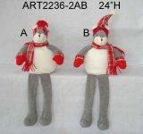 Feliz Navidad Decoración Ratón Pareja con Baby + Gift-2asst