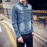 2017 New Design Casual Lapel Men's Denim Jacket