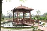 Pavilhão ao ar livre vermelho da madeira WPC
