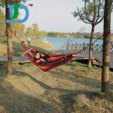Trekingのハンモックの木ストラップが付いているキャンプの屋外の携帯用綿のハンモック