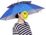 Mini parapluie principal de chapeau de Sun de pluie de petit anti de poissons chapeau UV de pli